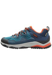 Keen Aphlex Walking Shoes Blue Burnt Orchre