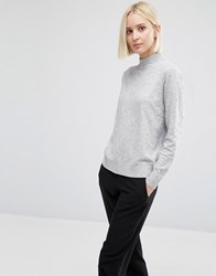Warehouse Pearl Embellished Jumper Grey