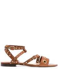 Tila March Studded Sandals Brown