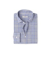 Mango Men's Check Slim Fit End On End Shirt Navy