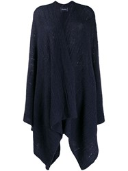 Zadig And Voltaire India Knit Poncho Blue