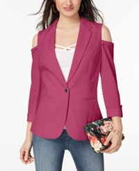 Xoxo Juniors' Cold Shoulder Blazer Raspberry Sorbet