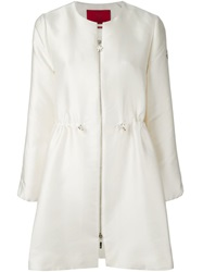 Moncler Gamme Rouge A Line Drawstring Jacket Nude And Neutrals