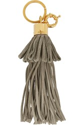 Emilio Pucci Fringed Suede Keychain Nude