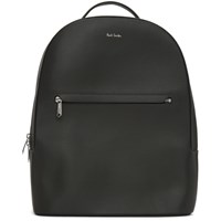 Paul Smith Grey Embossed Leather Backpack