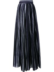Martin Grant Pleated Wide Leg Trousers Blue