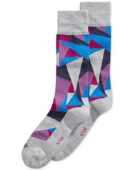 Alfani Men's Printed Socks Only At Macy's Purple Blue Grey Assorted Print