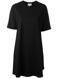 3.1 Phillip Lim Short Sleeve Dress Women Silk Cotton Spandex Elastane Viscose M Black