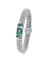 Lagos Sterling Silver Maya Abalone Doublet Rope Bracelet
