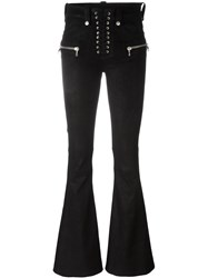 Unravel Project Zip Pocket Flared Trousers Black