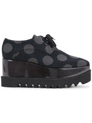Stella Mccartney Polka Dot Elyse Shoes Women Polyester Polyurethane 36 Black