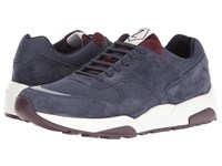 Z Zegna Techmerino Racer 2.0 Sneaker Dark Blue Burgundy Men's Lace Up Casual Shoes Navy