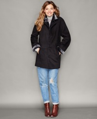 The Fur Vault Shearling Lamb Button Front Coat
