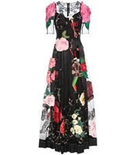 Dolce And Gabbana Embellished Tulle Gown Black