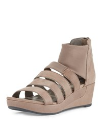 Eileen Fisher Fence Multi Strap Wedge Sandal Quartz