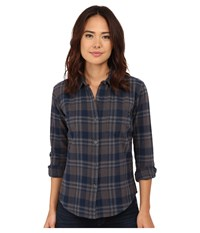 Obey June Lake Button Down Charcoal Multi Women's Long Sleeve Button Up Black