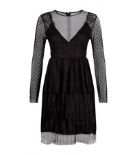 Pinko Lace Tiered Dress Female Black