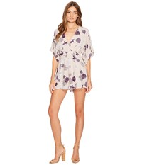 Astr The Label Sylvie Romper Grey Multi Floral Women's Jumpsuit And Rompers One Piece Gray