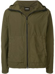 Aspesi Hooded Zip Up Jacket Green