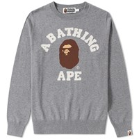A Bathing Ape College Crew Knit Grey
