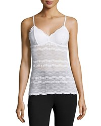 Cosabella Dolce Long Lace Lounge Layering Camisole White
