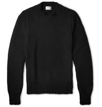 Acne Studios Bill Chunky Knit Cotton Blend Sweater Black
