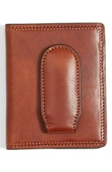 Men's Bosca Leather Front Pocket Money Clip Wallet