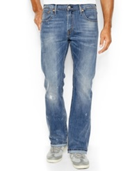 Levi's 527 Slim Fit Bootcut Jeans Damaged Stone