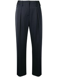 Lanvin Cropped Tailored Trousers Blue