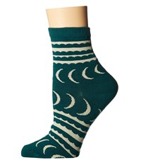 Richer Poorer Crescent Ankle Green Women's Crew Cut Socks Shoes
