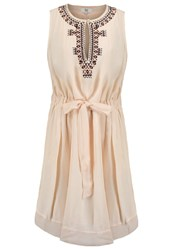 Noa Noa Summer Crepe Summer Dress Sand Dollar Off White