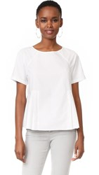 M.Patmos Clement Pleated Cotton Top White