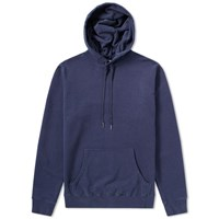 Sunspel Loopback Overhead Hoody Blue