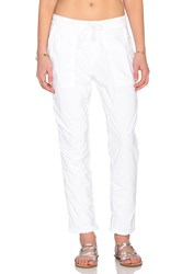 James Perse Jersey Lined Pull On Pant White