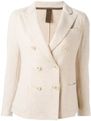 Eleventy Double Breasted Blazer Nude And Neutrals