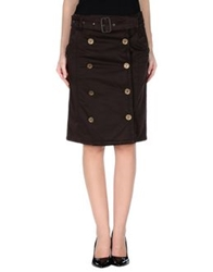 Daks London Knee Length Skirts Cocoa