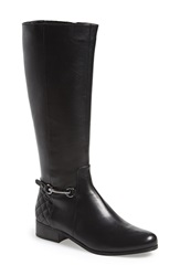 Vaneli 'Regil' Tall Moto Boot Women Black Nappa