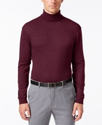 John Ashford Long Sleeve Turtleneck Interlock Shirt Cherry Wine