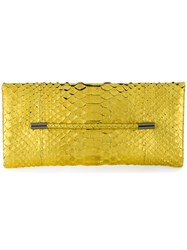 Tom Ford Snakeskin Effect Clutch Pitone Moluro Metallic