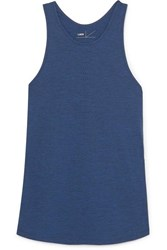 Lndr Crescent Perforated Stretch Jersey Tank Navy