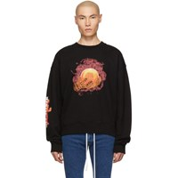 Off White Black Hands And Planet Sweatshirt