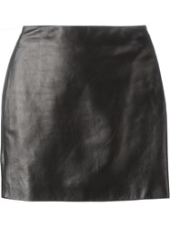Roberto Cavalli Mini Leather Skirt Black