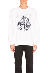 Baja East Horses Fleece Sweatshirt In White
