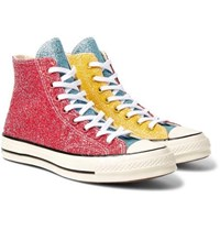 Converse Jw Anderson 1970S Chuck Taylor All Star Glittered Canvas High Top Sneakers Red