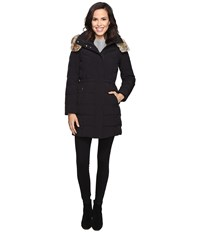 Cole Haan Down Parka W Faux Fur Black Women's Coat