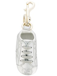 Gucci Gg Embossed Sneaker Keyring Grey