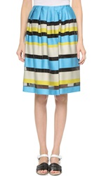 Paul Smith Striped Skirt Teal