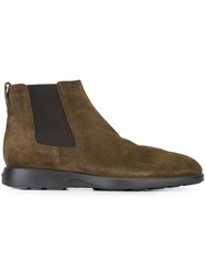 Hogan Slip On Boots Brown