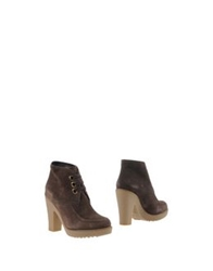 Car Shoe Carshoe Ankle Boots Dark Brown