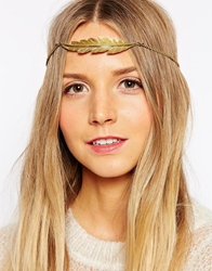 Made Leaf Headband Gold